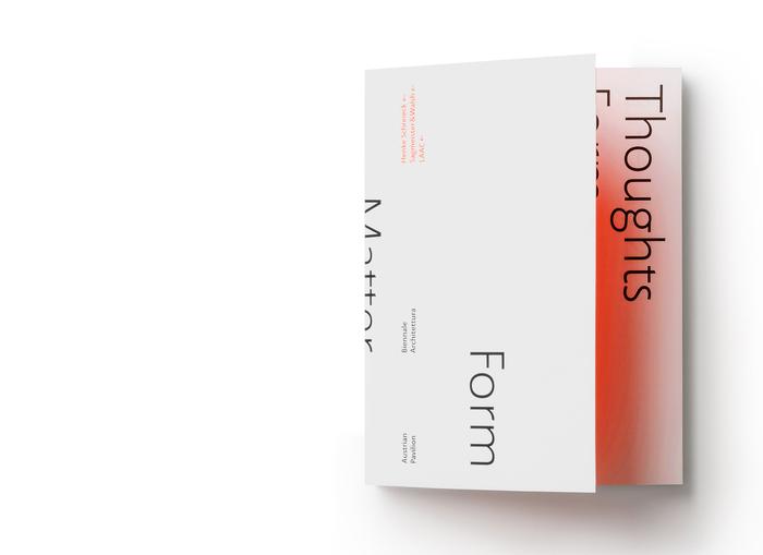 Thoughts Form Matter, Biennale Architettura 2018 1