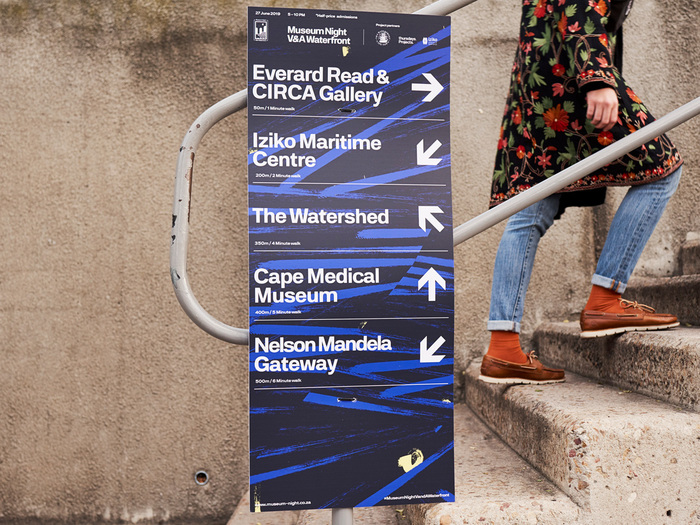 Museum Night V&A Waterfront 2019 wayfinding.