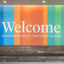 Blackstone Valley Prep environmental graphics