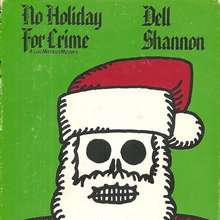 <cite>No Holiday For Crime – </cite>William Morrow &amp; Co. book jacket