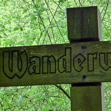 """Wanderweg"" sign"