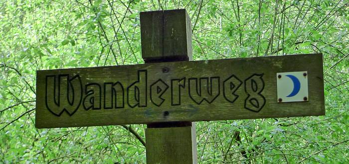 """""""Wanderweg"""" sign"""