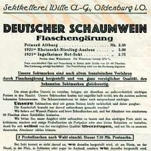Sektkellerei Wille flyer