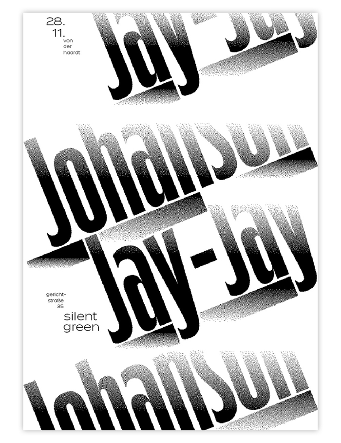 Jay-Jay Johanson, Berlin tour posters 1