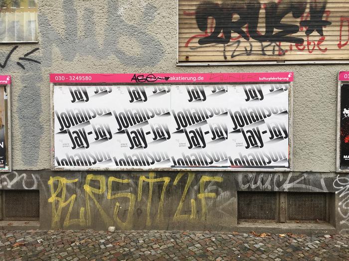 Jay-Jay Johanson, Berlin tour posters 2