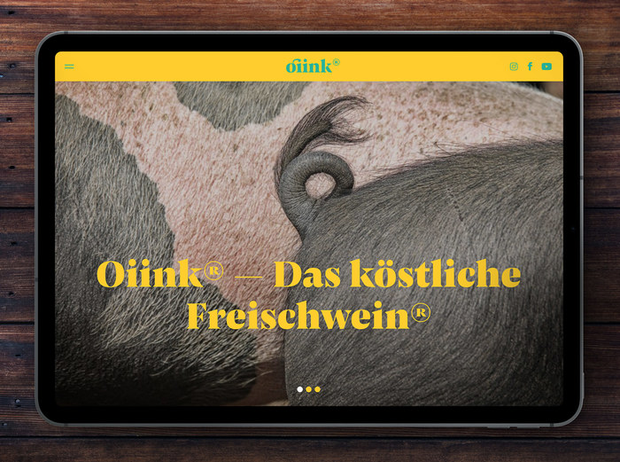 Oiink Farmyard pigs website and branding 1