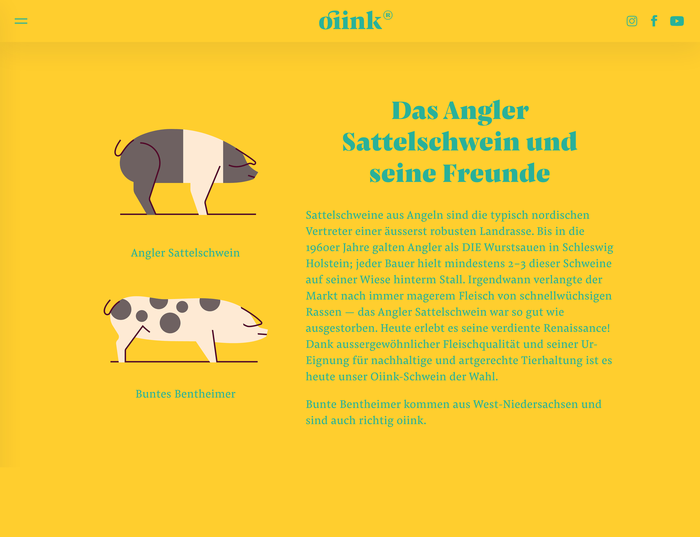 Oiink Farmyard pigs website and branding 2