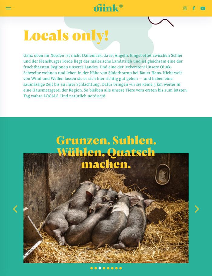 Oiink Farmyard pigs website and branding 6