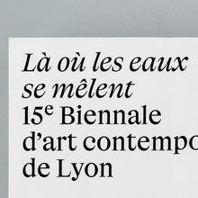 Lyon Contemporary Art Biennale catalog