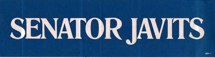1968 re-election campaign bumper sticker.