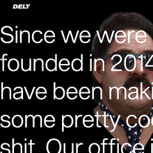 Delt portfolio website