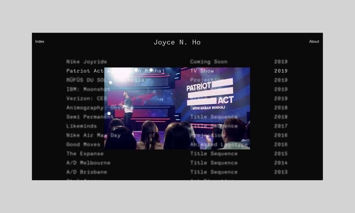 Joyce N. Ho website 3