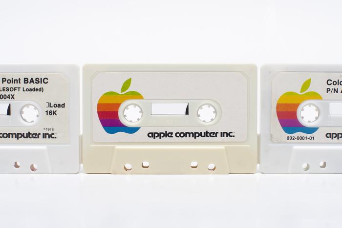 Apple II software on cassette.