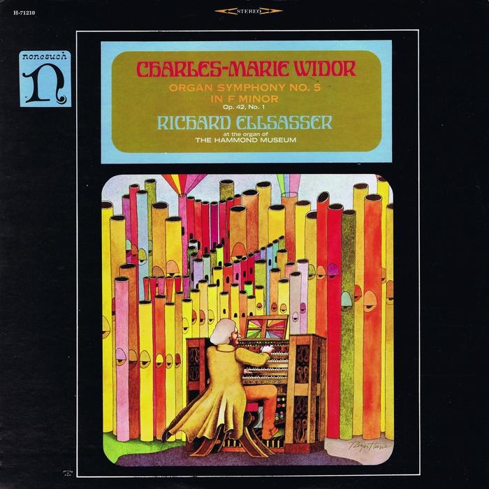 Richard Ellsasser – Charles-Marie Widor's Organ Symphony No.5, No. 1 (Nonesuch) album art