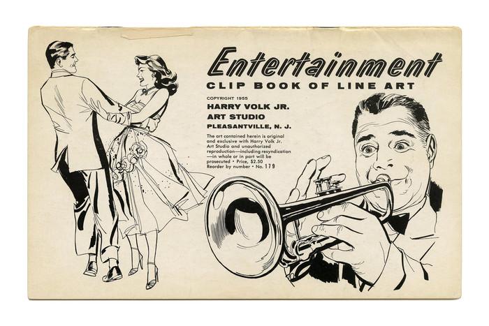 """Entertainment"" Clip Book of Line Art, Volk (1955)"