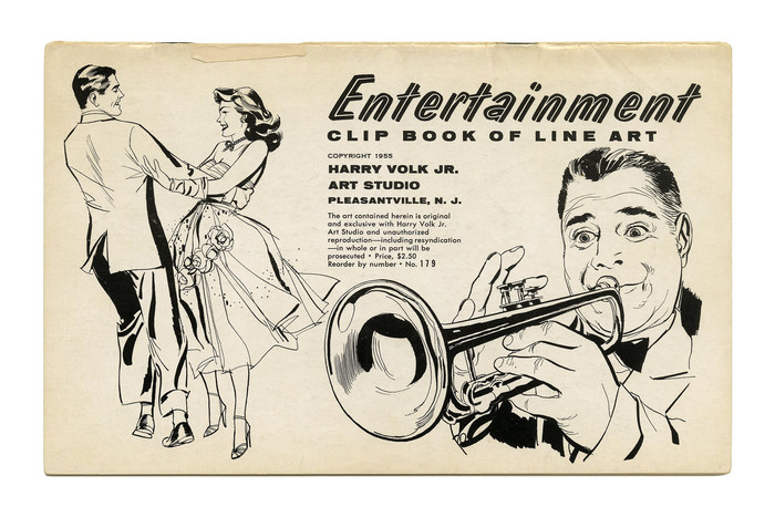 """Entertainment"" Clip Book of Line Art, Volk (1955)"