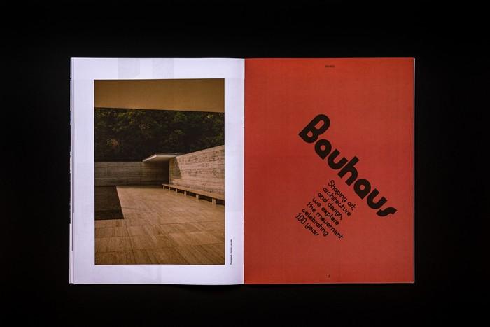 Dot magazine Bauhaus featured spread