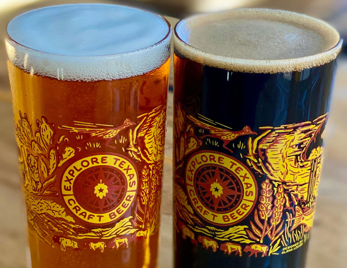Explore Texas Craft Beer glasses 5