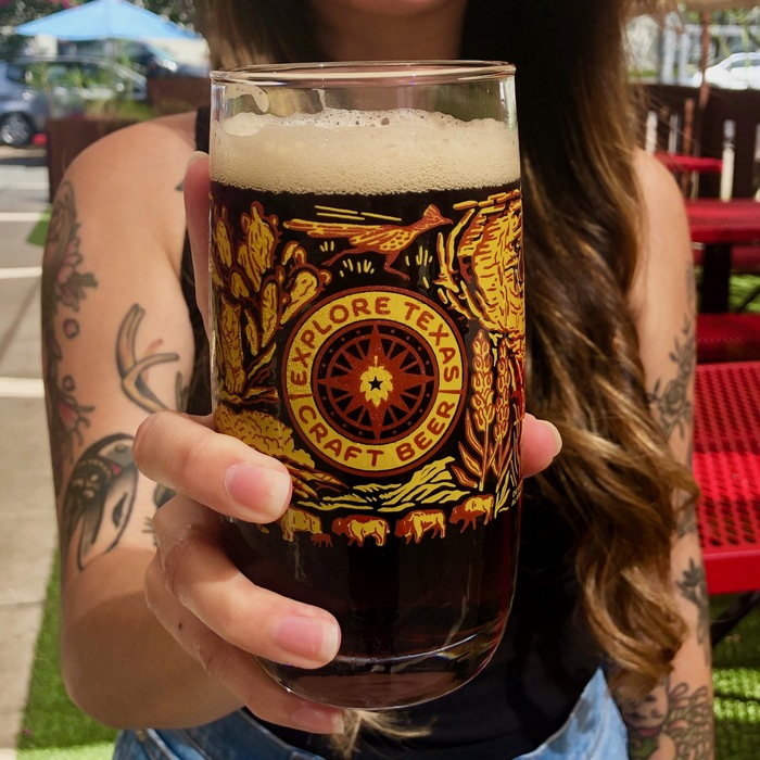 Explore Texas Craft Beer glasses 4
