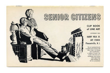 """Senior Citizens"" <cite>Clip Book of Line Art</cite>, Volk (1963)"