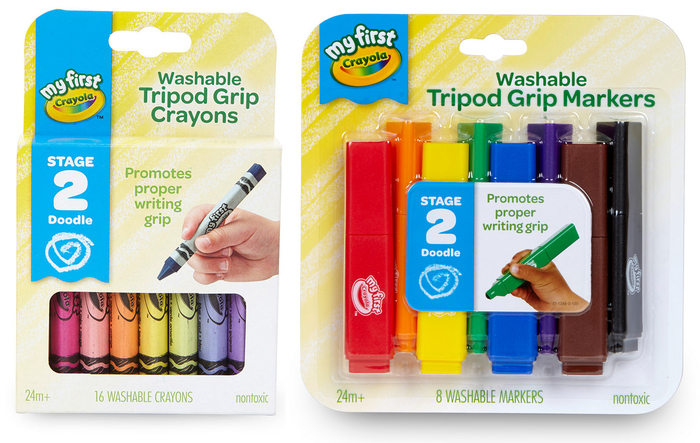 Packaging for crayons and markers.