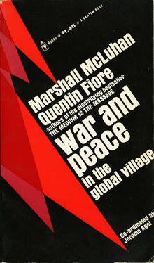 <cite>War and Peace in the Global Village</cite> by Marshall McLuhan and Quentin Fiore (Bantam)
