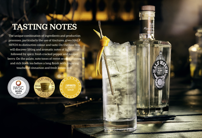 Half Hitch Gin website 7