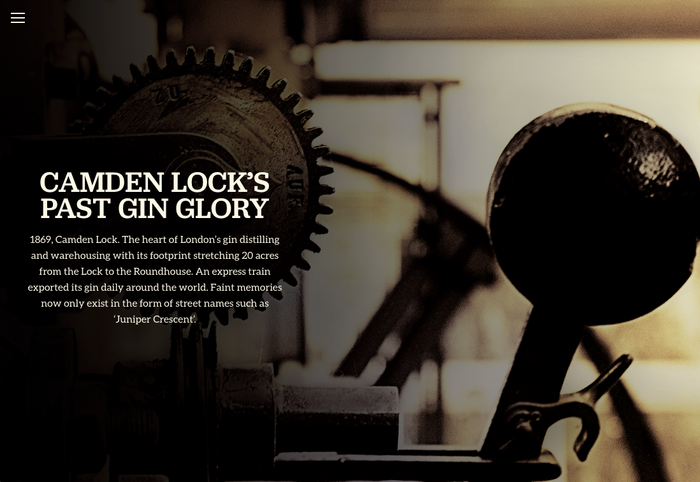 Half Hitch Gin website 1