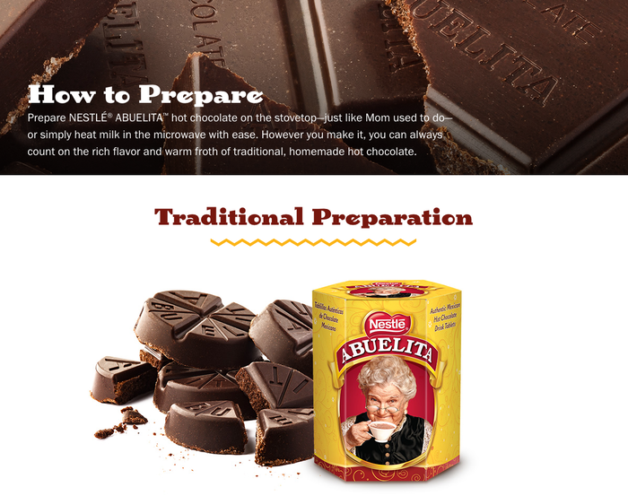 Chocolate Abuelita website 5