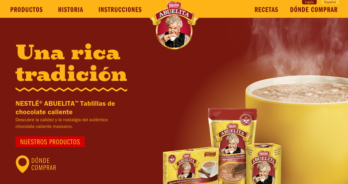 Chocolate Abuelita website 1