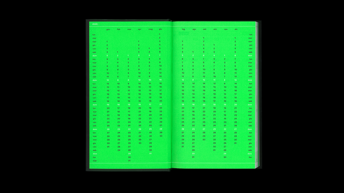 2020 weekly diary, Hoppípolla Edizioni 6