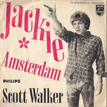 "Scott Walker – ""Jackie"" / ""Amsterdam"" Dutch single cover"