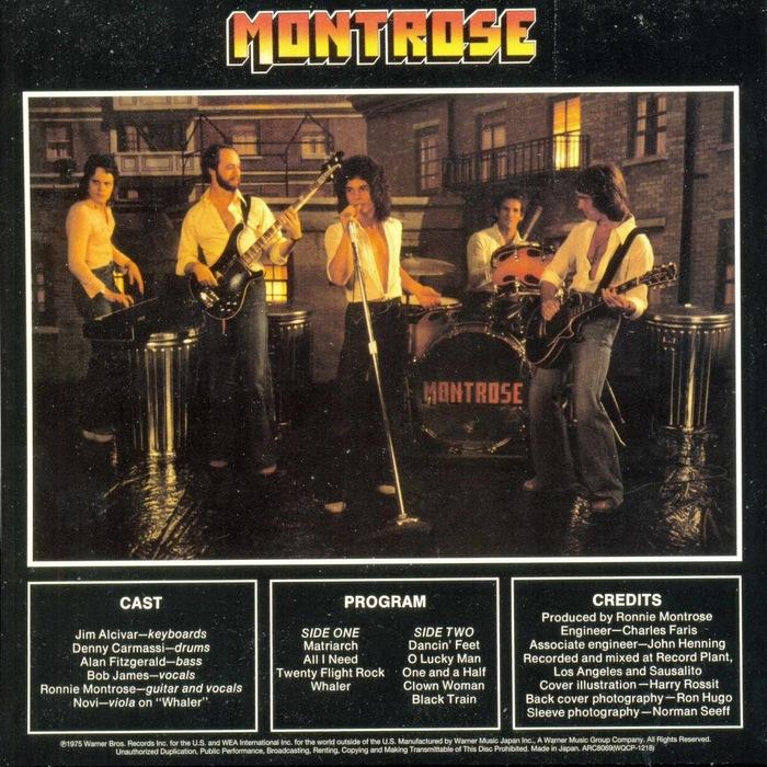 Montrose – Warner Bros. Presents Montrose! album art 2
