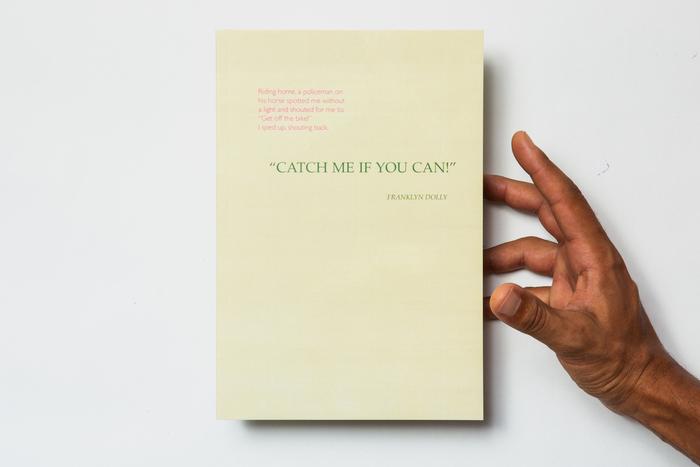 "A memoir: ""Catch Me If You Can!"" 1"