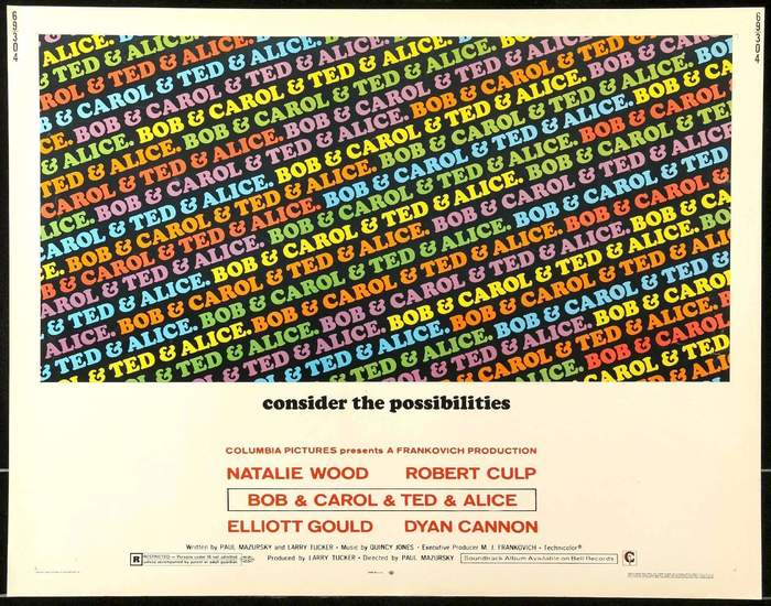 Bob & Carol & Ted & Alice movie posters and soundtrack 2
