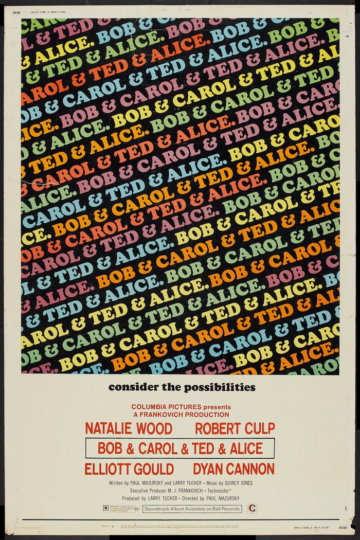 Bob & Carol & Ted & Alice movie posters and soundtrack 5
