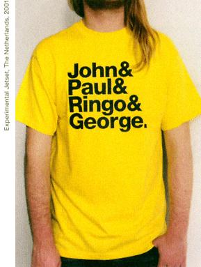 John & Paul & Ringo & George / &&& T-shirt 2