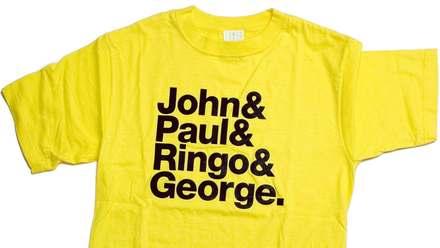 <cite>John &amp; Paul &amp; Ringo &amp; George / &amp;&amp;&amp;</cite> T-shirt