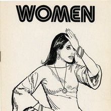"""Women"" and ""Entertainment"" <cite>Clip Books of Line Art</cite>, Volk (1977)"