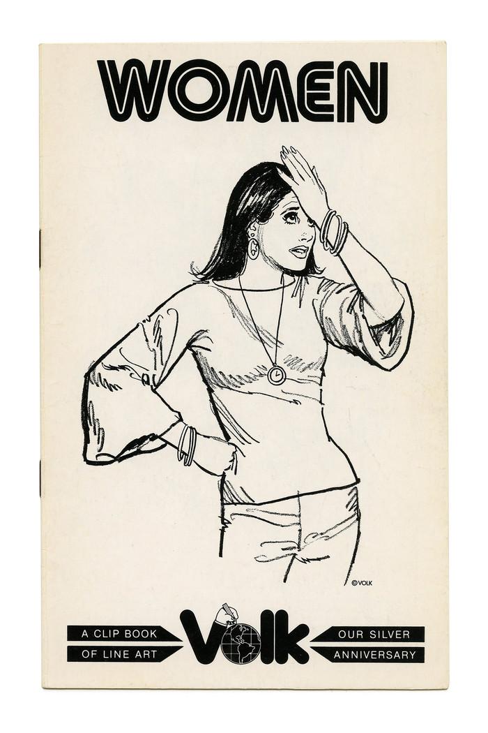 """Women"" and ""Entertainment"" Clip Books of Line Art, Volk (1977)"