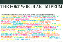 Fort Worth Art Museum – <cite>The Permanent Collection: A 75th Anniversary Retrospective</cite> exhibition poster