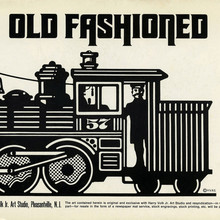 """Old Fashioned"" and ""Science"" <cite>Clip Books of Line Art</cite>, Volk (1969)"