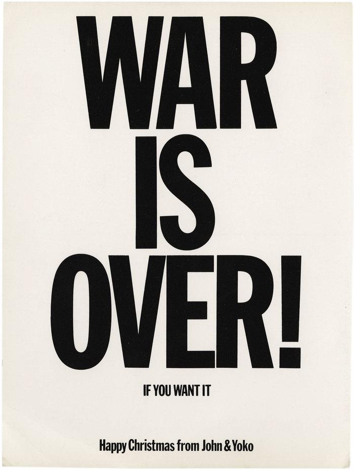 Original WAR IS OVER! postcard.