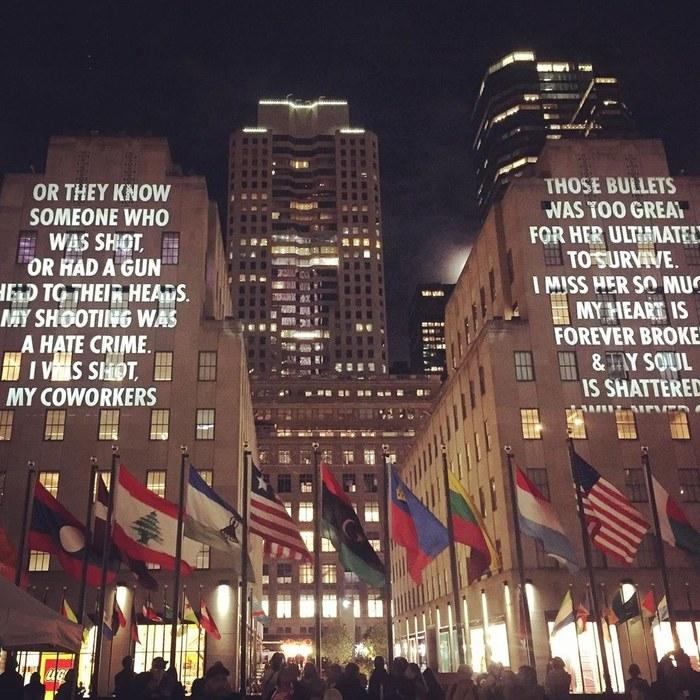 Vigil by Jenny Holzer 2