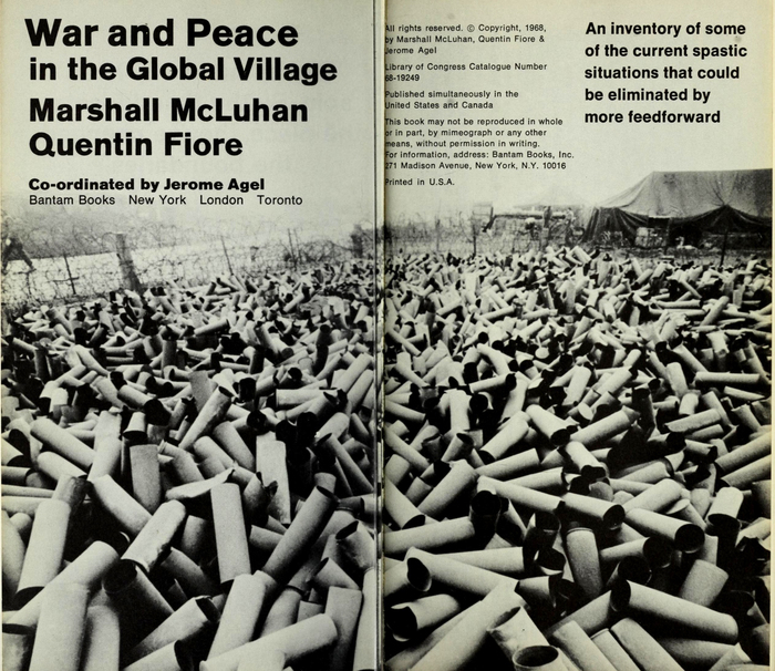 War and Peace in the Global Village by Marshall McLuhan and Quentin Fiore (Bantam) 3