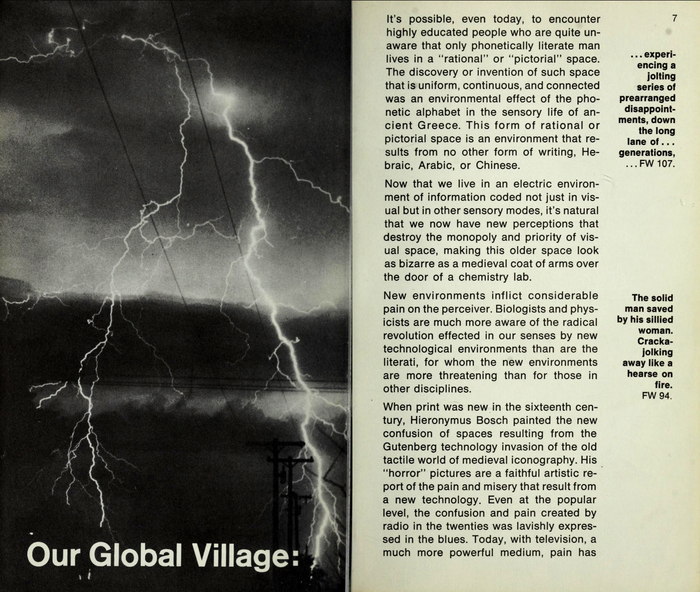 War and Peace in the Global Village by Marshall McLuhan and Quentin Fiore (Bantam) 4