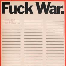 """""""Fuck War."""" poster"""