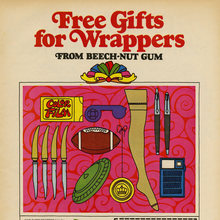 """Free Gifts for Wrappers"" ad for Beech-Nut Gum"