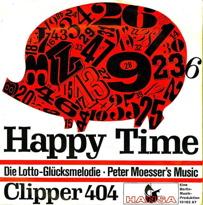 Peter Moesser's Music ‎– Happy Time b/w Clipper 404 2