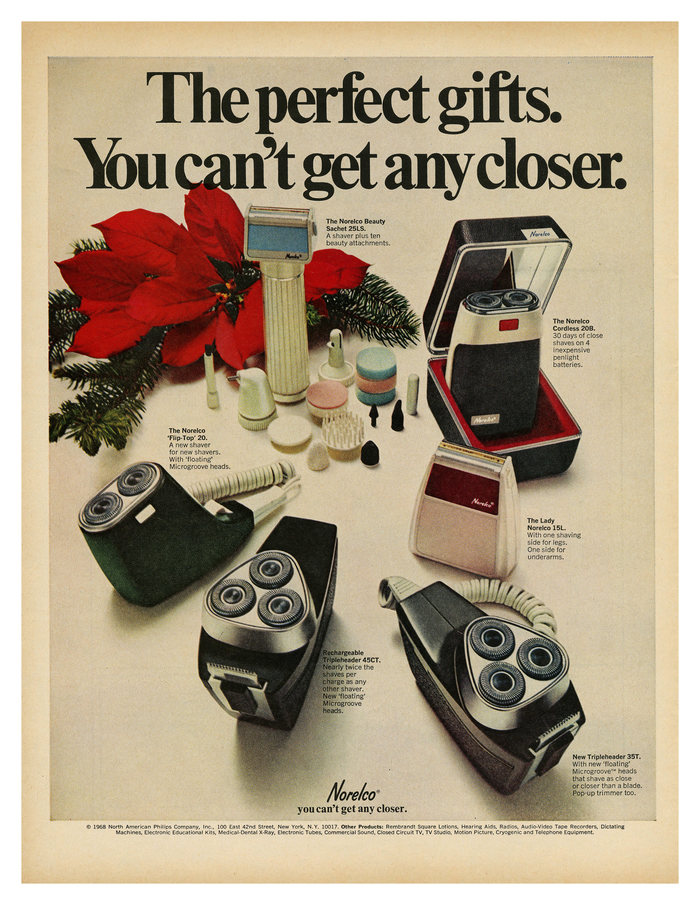 """The perfect gifts"" ad by Norelco"